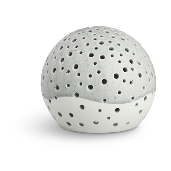Sfeșnic din porțelan bone china Kähler Design Nobili, ⌀ 12 cm, gri