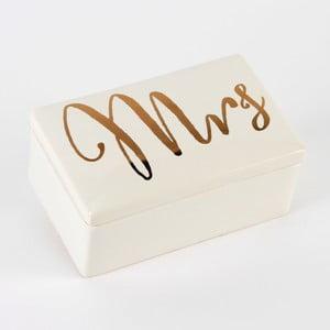 Keramický úložný box Celebrations Mrs
