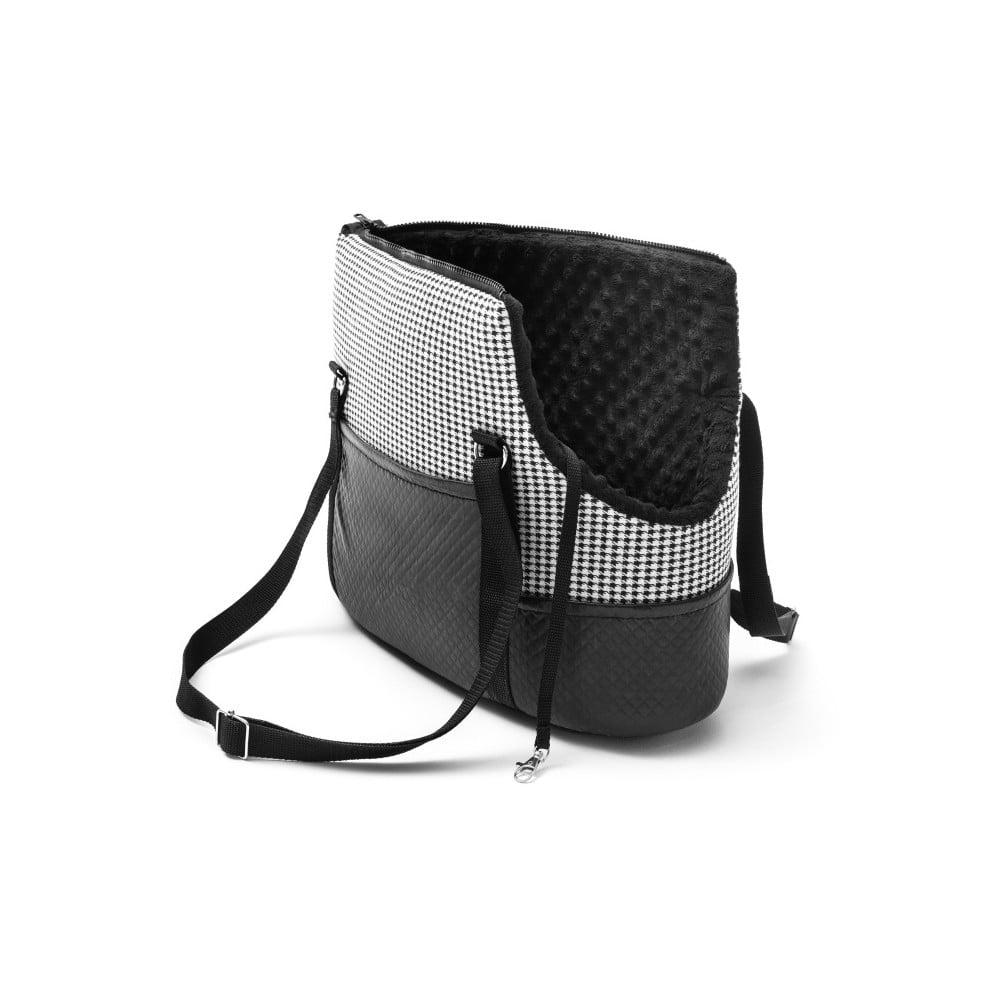67a77b1386 Černo-bílá cestovní taška pro psa Marendog Pepita