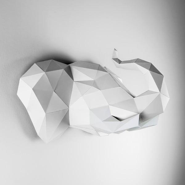 Papírová trofej Slon, bílý