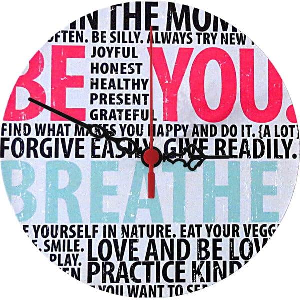 Nástěnné hodiny Breathe, 30 cm