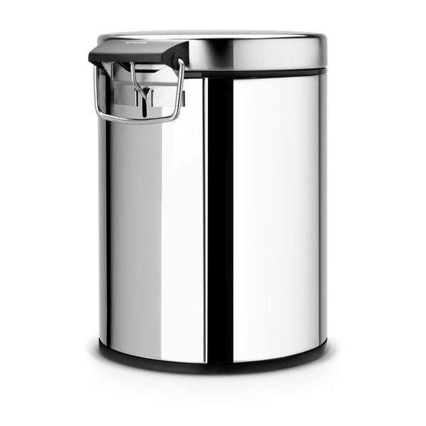 Pedálový koš Classic Bin, 5 l, stříbrný