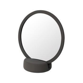 Oglindă cosmetică pentru masă Blomus, înălțime 18,5 cm, maro