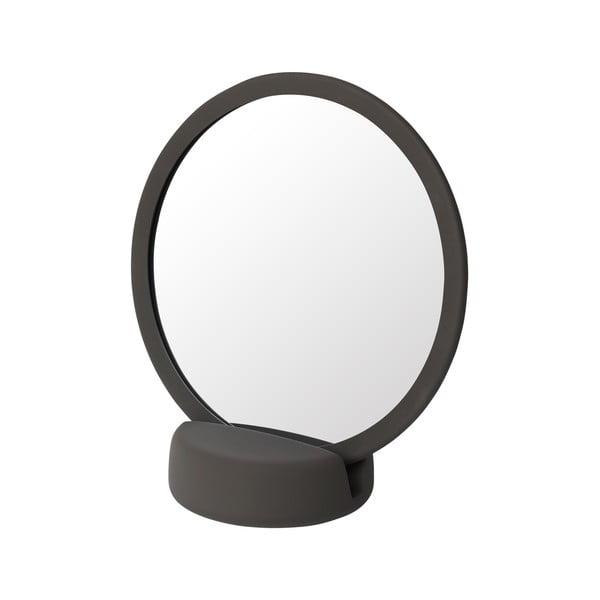 Hnědé stolní kosmetické zrcadlo Blomus, výška18,5cm