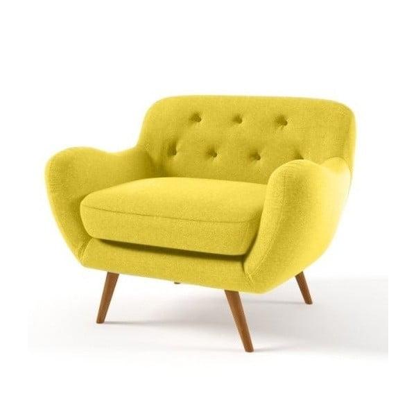 Křeslo Zefir, žluté