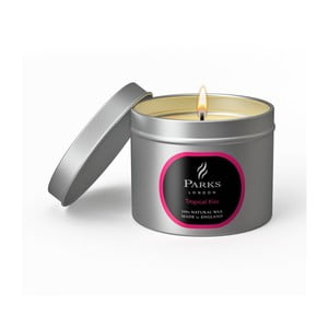 Lumânare Parks Candles London Tropical Kiss, 25 de ore de ardere, aromă de fructe tropicale și flori
