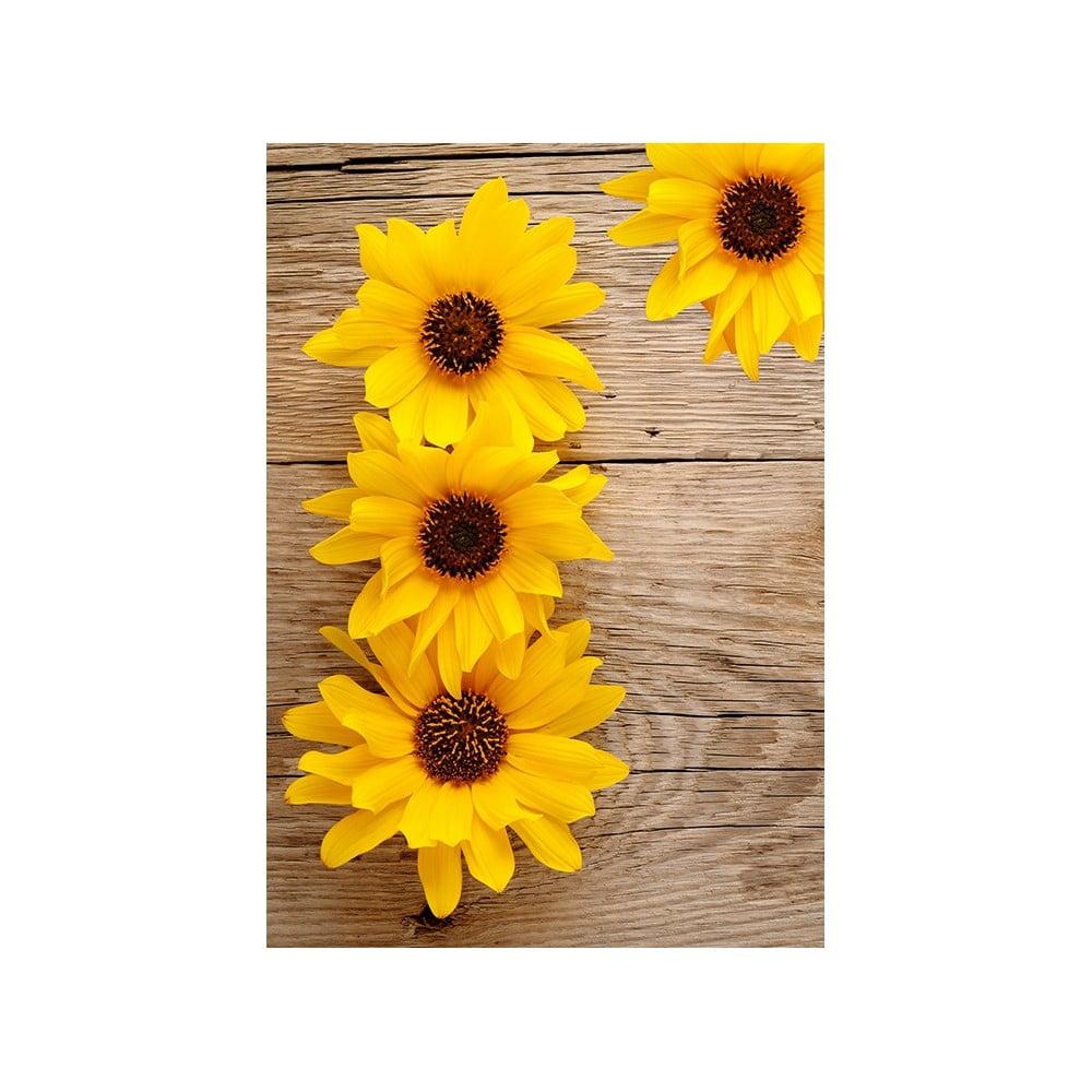 Vinylový koberec Flower, 52 x 75 cm