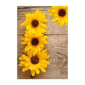 Covor din vinil Flower, 52x75 cm
