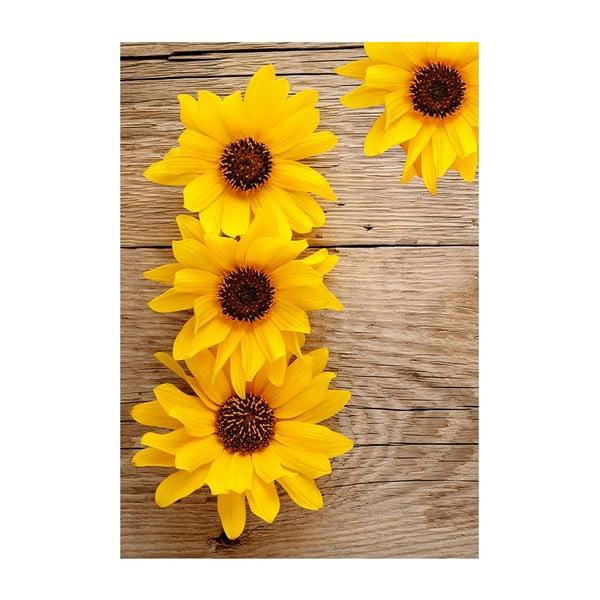 Vinylový koberec Flower, 52x75 cm