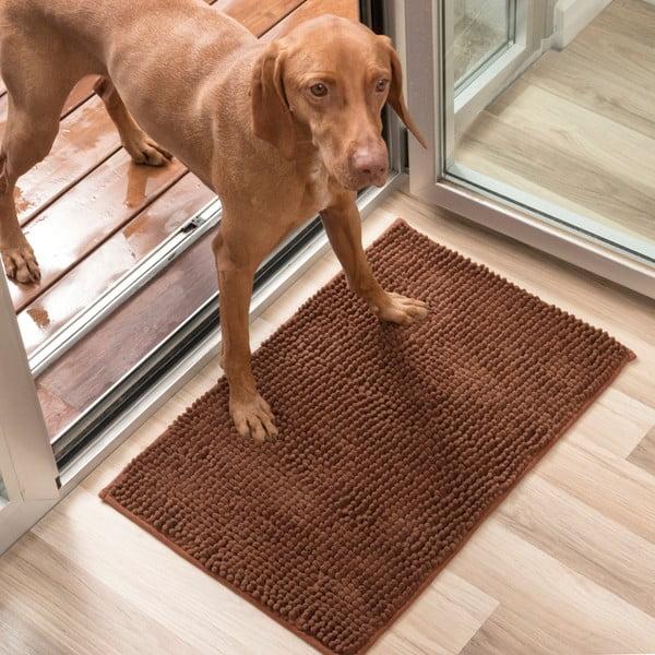 Brązowa wycieraczka dla psów InnovaGoods Pet Doormat, 85x65 cm