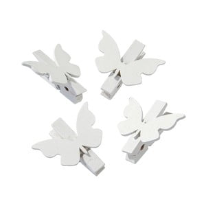 Sada 20 kolíčků White Butterfly