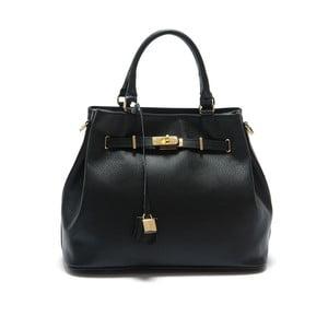 Černá kožená kabelka Isabella Rhea Azalea