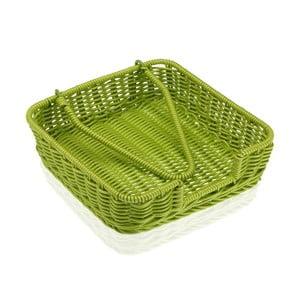Zelený košík na papírové ubrousky Versa Wonda, 20x20cm