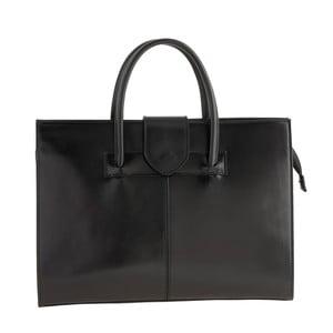 Černá kožená kabelka Ore Diece Bari