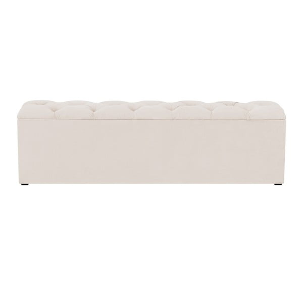 Béžový otoman k posteli s úložným prostorem Kooko Home Manna, 47 x 160 cm