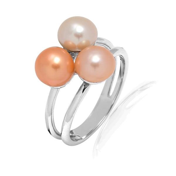 Prsten Pure Pearls Peach, vel. 58