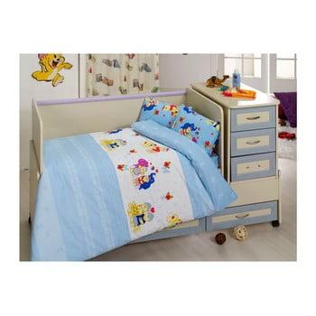 Lenjerie de pat din bumbac pentru copii Blue Dreams 100 x 150 cm