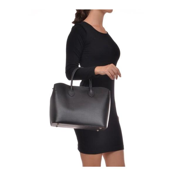 Geantă din piele Isabella Rhea Shopping Nero, negru