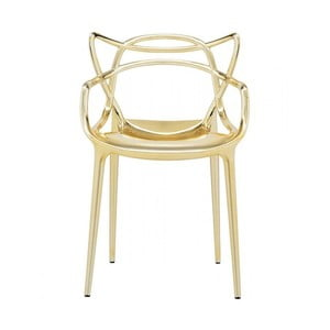 Zlatá židle Kartell Masters