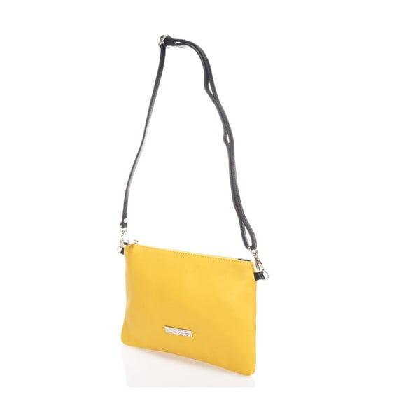 Kožená kabelka Krole Kody, žlutá