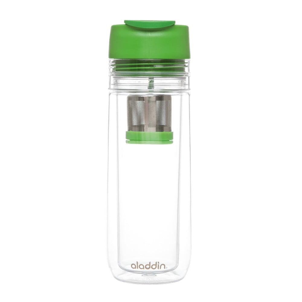 Zelený termohrnek s infuzérem Aladdin, 350 ml