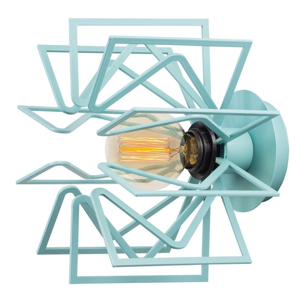 Bledě modrá nástěnná lampa Radius