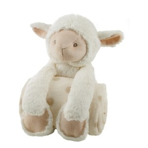 Plyšová ovečka sdětskou dečkou Biederlack