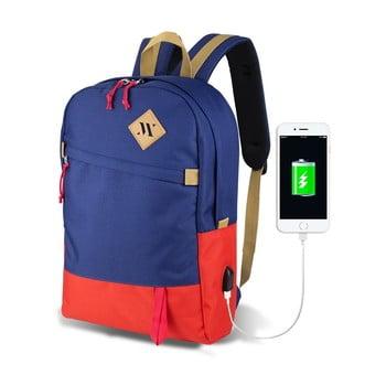 Rucsac cu port USB My Valice FREEDOM Smart Bag, roșu-albastru de la Myvalice