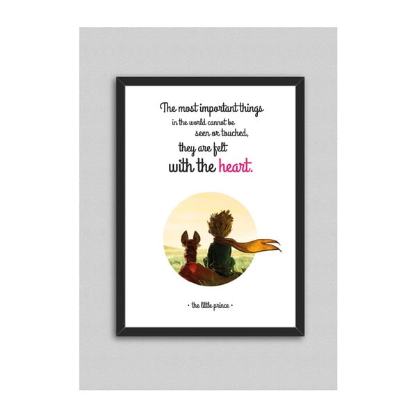 Obraz North Carolina Scandinavian Home Decors Little Prince Quote V2, 33 x 43 cm