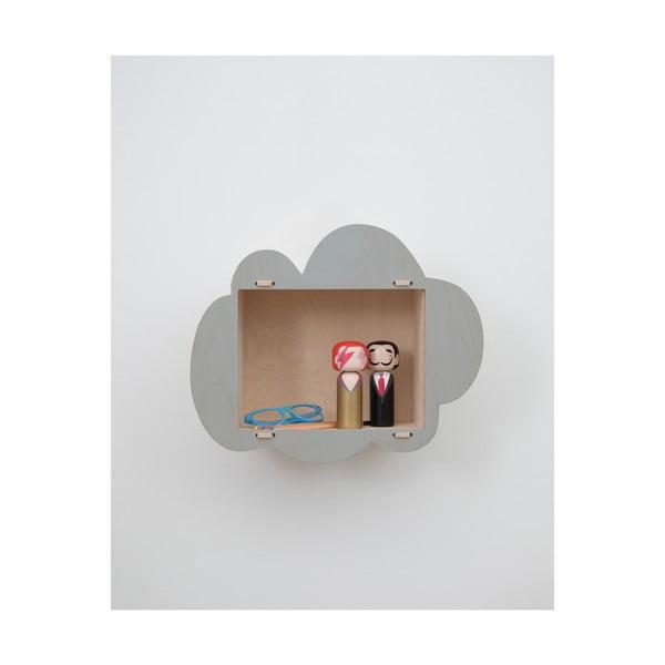 Dětská police zbřezového dřeva Little Nice Things Cloud