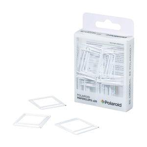 Sada 20 bílých klipsů Polaroid