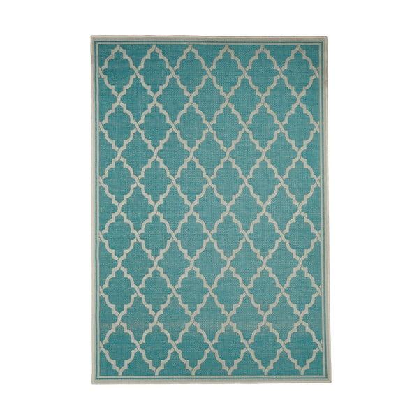 Tyrkysový venkovní koberec Floorita Intreccio, 200 x 290 cm