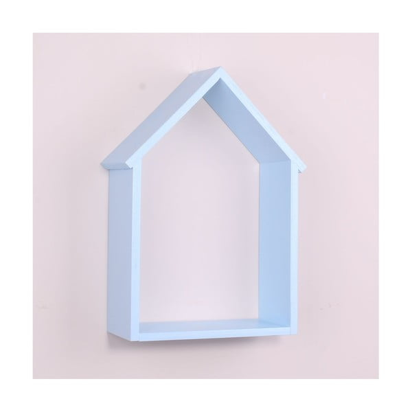 House világoskék fa fali polc - North Carolina Scandinavian Home Decors