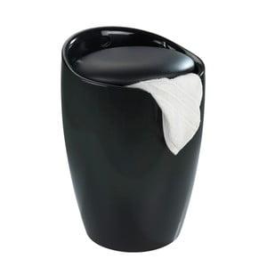 Coș de rufe /taburet Wenko Candy, 20 l, negru