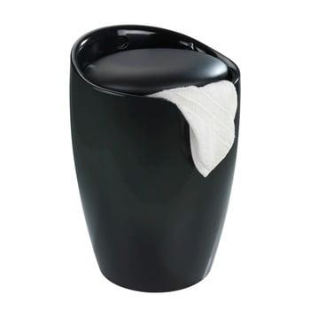 Coș de rufe /taburet Wenko Candy, 20 l, negru imagine