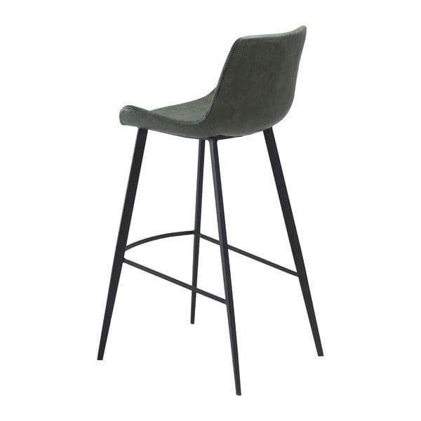 Zelená barová židle z eko kůže DAN–FORM Denmark Hype