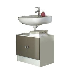 Šedohnědá koupelnová skříňka pod umyvadlo Symbiosis André