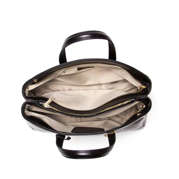 Kožená kabelka Luisa Vannini 380 Nero