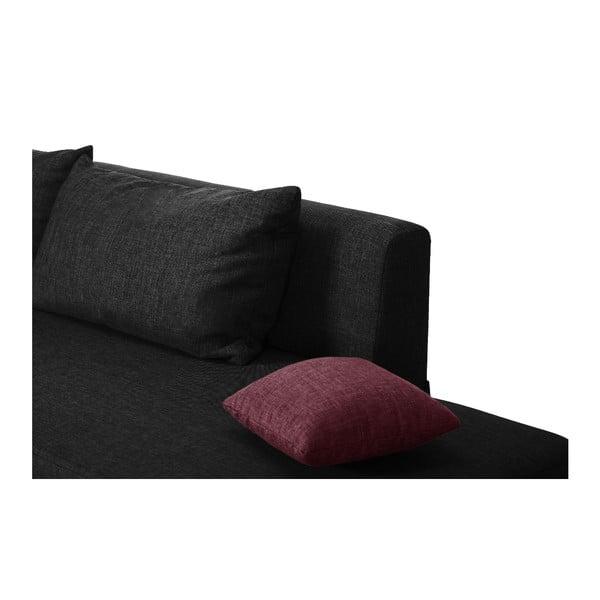 Černo-růžová rozkládací pohovka Modernist Pashmina, levý roh