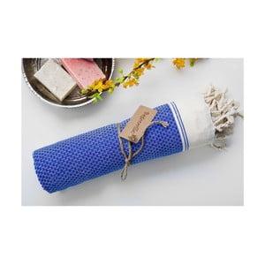 Hamam osuška Jacquard Blue, 100x180 cm