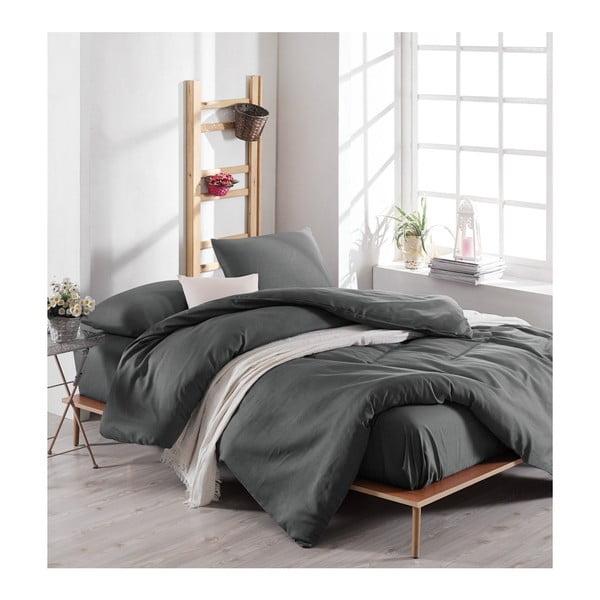 Lenjerie de pat cu cearșaf Reterro Larika, 200 x 220 cm