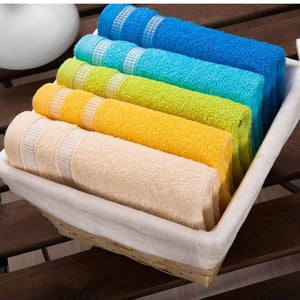 Sada 5 ručníků White Basket, 30x50 cm