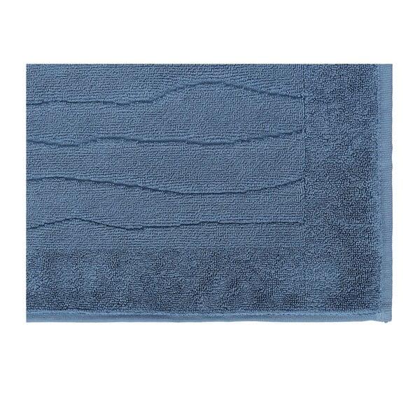 Modrý ručník z bavlny Wave, 50 x 80 cm