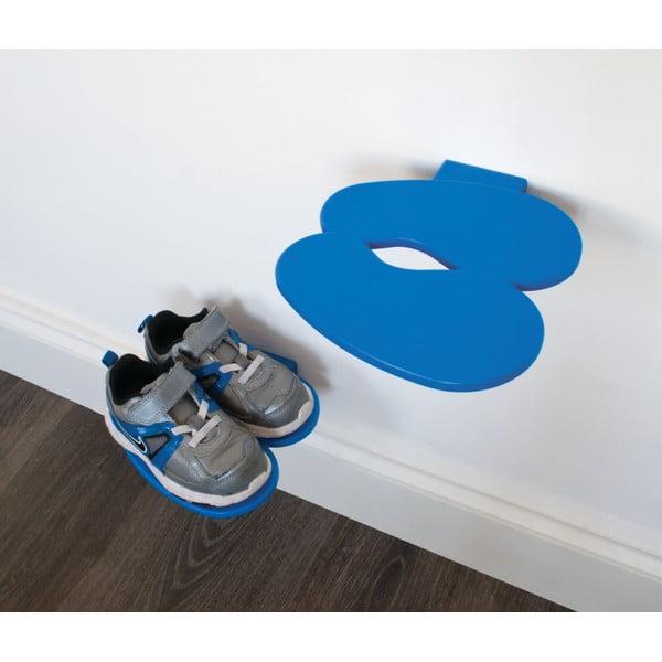 Modrá polička na dětské boty J-Me Footprint