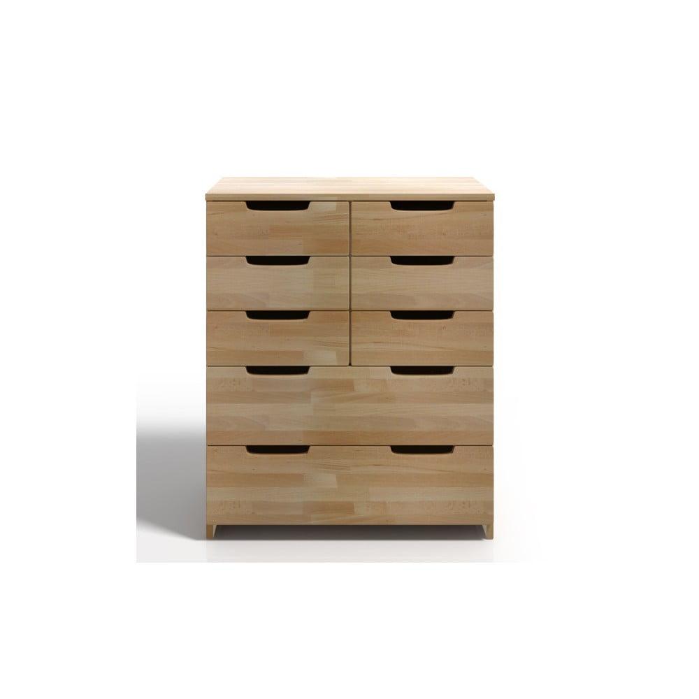 Komoda z bukového dřeva s 8 zásuvkami SKANDICA Spectrum