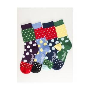 Sada 4 párů unisex ponožek Funky Steps Inek, velikost39/45