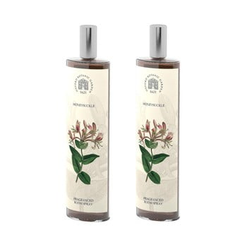 Set 2 spray-uri parfumate de interior cu aromă de caprifoi Bahoma London Fragranced, 100 ml