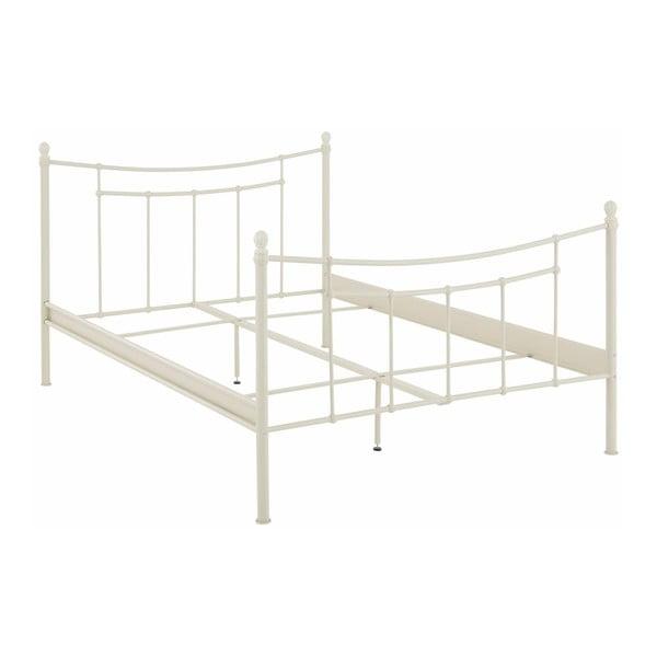 Biela dvojlôžková posteľ Støraa Victor, 140×200cm
