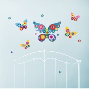 Znovu snímatelná samolepka Blue Butterflies