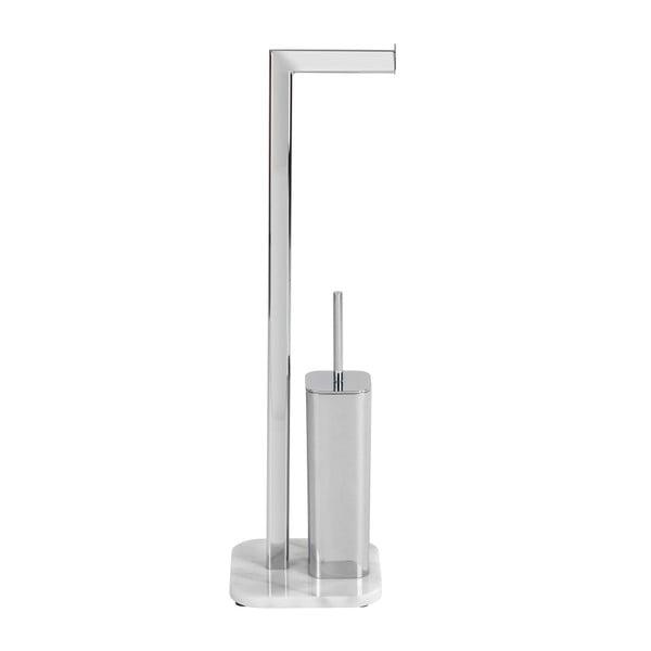 Marmurowy stojak na szczotkę do WC i papier toaletowy Wenko Onyx